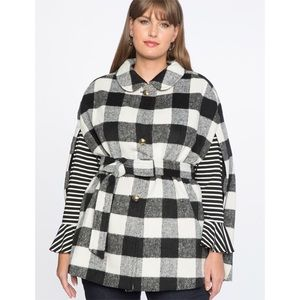 ELOQUII / Buffalo Check Cape